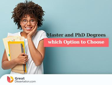 Master and PhD Degrees: which Option to Choose