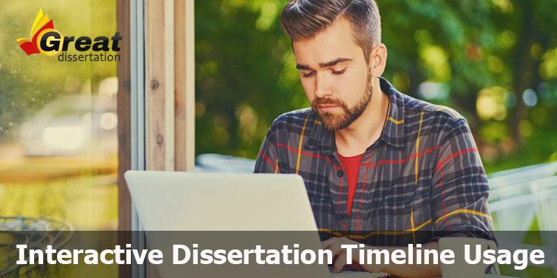 Interactive Dissertation Timeline Usage