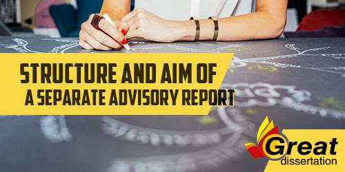 Structure and Aim of a Separate Advisory Report